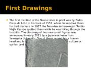 First Drawings  The first mention of the