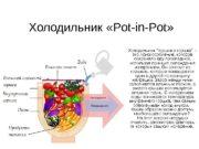 Холодильник « Pot-in-Pot » Холодильник «горшок в горшке»