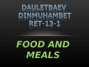 Презентация food and meals