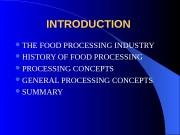 Презентация food processing