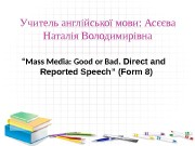 Презентация form 8present direct indirect speech