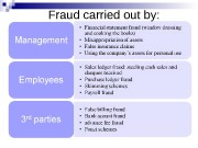 Fraud carried out by:  Ponzi schemes
