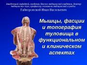 Презентация Гайворонский Лекция 9 Мышцы туловища