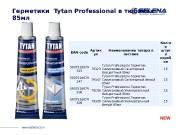 Презентация Герметики Tytan Professional в блистерах 85ml