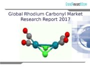 1 Global Rhodium Carbonyl Market Research Report 2017