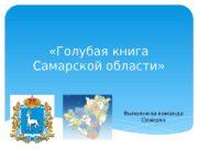 «Голубая книга Самарской области» Выполнила команда Северян