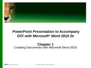 Презентация gowrd2010 2e w01 ppt
