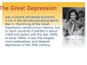 Презентация great depression