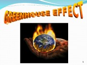 1  The greenhouse effect is when the
