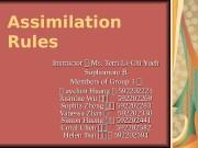Assimilation Rules Instructor :: Ms. Terri Li-Chi Yueh