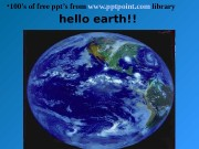 Презентация hello earth Opp