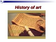 History of art  Art periods :