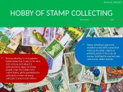 HOBBY OF STAMP COLLECTING  Stamp collecting is