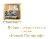 Добро пожаловать в отель  «Новый Петергоф» Положение