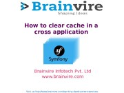 How to clear cache in a cross application