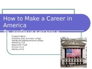 How to Make a Career in America Як