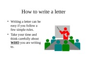 Презентация how to write a letter