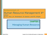 Презентация hr management