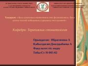 Презентация Ибрагимова А.