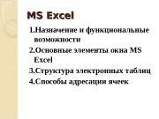 Презентация Информатика Л3 excel