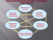 Содержание образования и социализации Материально- техническое оснащение Содержание
