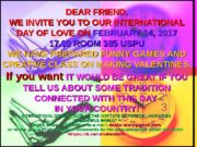 DEAR FRIEND, WE INVITE YOU TO OUR INTERNATIONAL