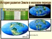 Презентация istorija-razvitija-zemli-v-melovom-periode