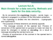 Lecture № 1. 9.  Main threats for