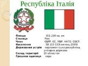 Республ і ка Італія Площа