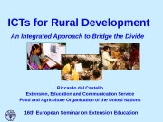 ICTs for Rural Development  An Integrated Approach