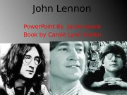 John Lennon Power. Point By Jacob lavoie Book
