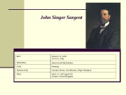John Singer Sargent  Born January 12, 1856