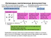 Катиондық синтетикалық флокулянттар Күштінегіздік флокулянттар Әлсізнегіздік Біріншілік аминдік