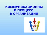 Презентация kommunikacionnyi process v organizacii