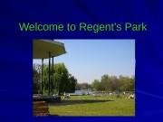 Презентация Копия Regents Park 1