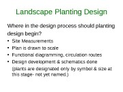 Landscape Planting Design Where in the design process