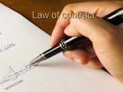 Law of contract   A contract is