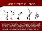 Basic strokes in Tennis   The serve