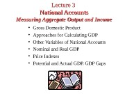 Lecture 33  National Accounts Measuring Aggregate Output