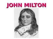 JOHN MILTON  Paradise Lost  Paradise Lost
