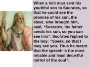 When a rich man sent his youthful son