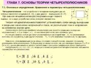 ГЛАВА 7. ОСНОВЫ ТЕОРИИ ЧЕТЫРЕХПОЛЮСНИКОВ 7. 1. Основные
