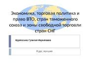 Презентация Лекции по ВТО ТС и ЗСТ СНГ