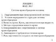 1 Система кровообращения человека ЛЕКЦИЯ 1 08. 02.