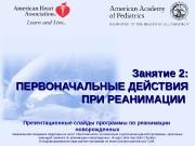 Презентационные слайды программы по реанимации  новорожденных Американская