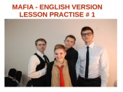 MAFIA — ENGLISH VERSION LESSON PRACTISE # 1