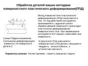 Обработка деталей машин методами поверхностного пластического деформирования(ППД) Схема