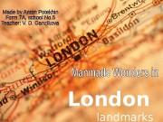 London  landmarks  Big Ben One of