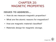 Презентация magnetic properties