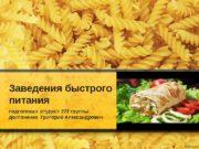 Заведения быстрого питания подготовил студент 272 группы